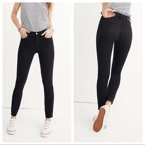 "Madewell 9"" Mid-Rise Skinny Jeans Lunar Black Wash"